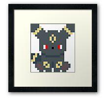 Pokemon 8-bit Umbreon Framed Print