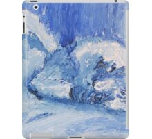 The Blue Cat Sleeping iPad Case/Skin
