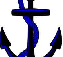 Anchor and Helm Sticker