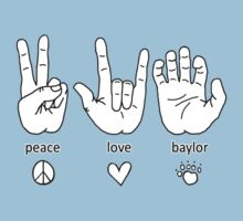 Peace Love Baylor [black/white] by Lauren Laumbach