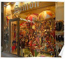 Paris Umbrella Shop Poster