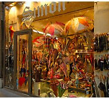 Paris Umbrella Shop Photographic Print