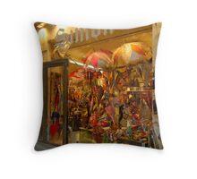 Paris Umbrella Shop Throw Pillow
