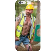 Troy T Scott - Construction Man iPhone Case/Skin