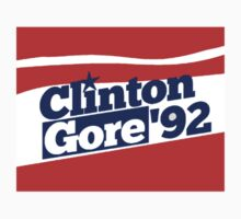 Bill Clinton and Al Gore's 1992 campaign as a come from behind miracle Kids Tee