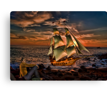 When the Boat comes in~ Canvas Print