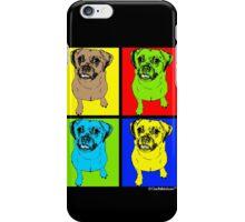 Designer Puggle Dog Pop Art iPhone Case/Skin