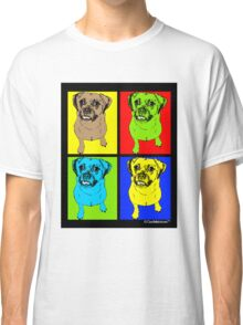 Designer Puggle Dog Pop Art Classic T-Shirt
