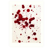 Blood Spatter 7 Art Print