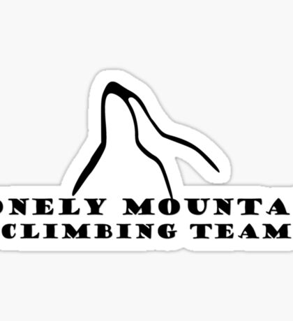 Lonely Mountain Climbing Team Sticker