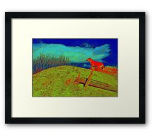 Where is the Master..... Framed Print
