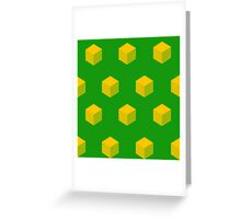 Cubic Qubes Greeting Card
