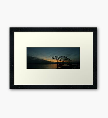 """Sunset Cove II, Madison Wisconsin, 2010"" Framed Print"