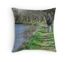 Waterways and pathways Throw Pillow