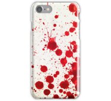 Blood Spatter 2 iPhone Case/Skin