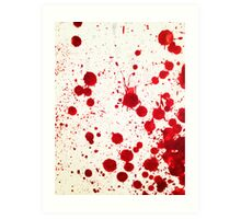 Blood Spatter 2 Art Print