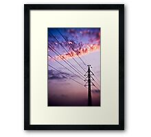 electricity of evening Framed Print