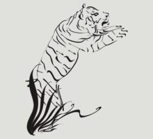 Leaping Tiger 2 black by Lotacats