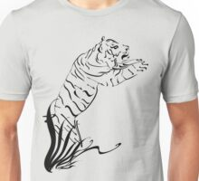Leaping Tiger 2 black Unisex T-Shirt