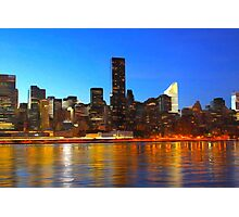 City Night Art Photographic Print