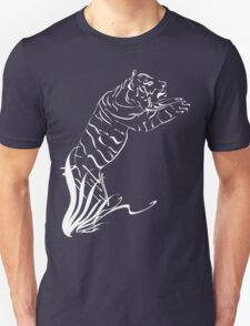 Leaping Tiger 2 white Unisex T-Shirt