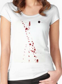 Blood Spatter 4 Women's Fitted Scoop T-Shirt