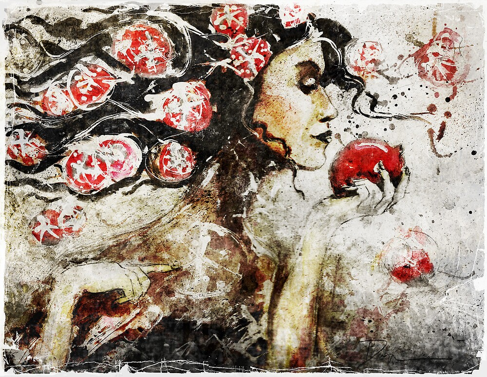 Persephone and the Pomegranate by seanxian