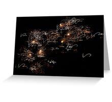 Sky Signatures  Greeting Card