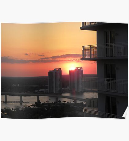 "Intracoastal ""Halifax River"" Sunset Day Two Poster"