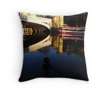 """So Blue - So Still  - The River Ouse - Lendal Bridge - York"" Throw Pillow"