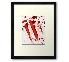 Blood Spatter 9 Framed Print