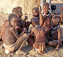 Himba Children, Namibia, Africa by Margaret  Hyde