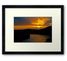 An Austin West Lake Sunset Framed Print