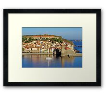 Coastal Mediterranean village of Collioure Framed Print