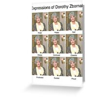 Dorothy Zbornak Greeting Card