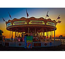 Carousel at Sunset on Brighton Pier Photographic Print