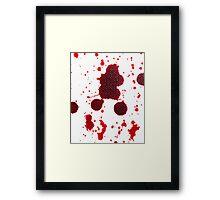 Blood Spatter Knife Drip Framed Print