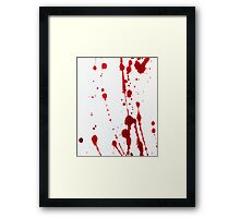 Blood Spatter Knife Cast Off Framed Print
