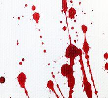 Blood Spatter Knife Cast Off by jenbarker