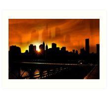 Manhattan Silhouettes Art Print