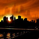 Manhattan Silhouettes by Svetlana Sewell