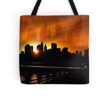 Manhattan Silhouettes Tote Bag
