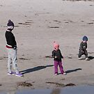 Beanies & Jumpers on a Winters Day, Semaphore Beach. S.A.  by Rita Blom