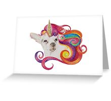 Rainbow Chihuacorn Greeting Card