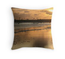 """Sunset - Beadnell Bay - Northumberland Throw Pillow"