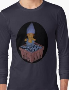❀◕‿◕❀TROLL LOVING BLUEBERRIES TEE SHIRT SO CUTE ❀◕‿◕❀LOL Long Sleeve T-Shirt