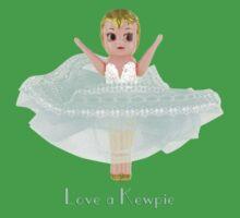 Love a Kewpie - Mint Green Baby Tee
