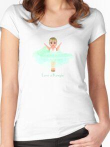 Love a Kewpie - Mint Green Women's Fitted Scoop T-Shirt