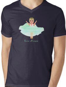 Love a Kewpie - Mint Green Mens V-Neck T-Shirt