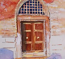 Golden Venetian Doorway by Christiane  Kingsley